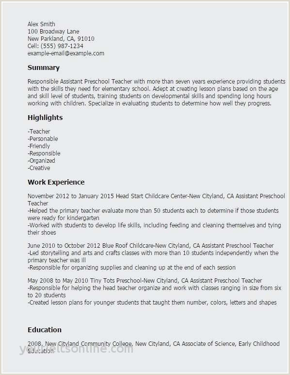 Child Care Resume Samples Sample Child Care Resume Examples