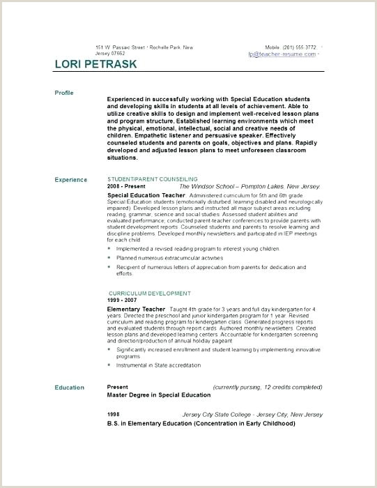 educator resume template – growthnotes