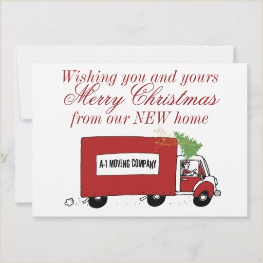 We have moved Christmas change of address Holiday Card