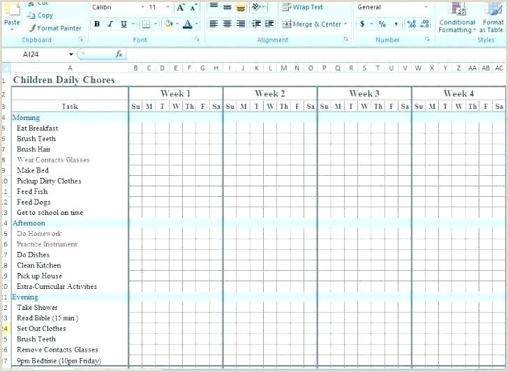 House Cleaning Family Chore Free Template Chart Templates
