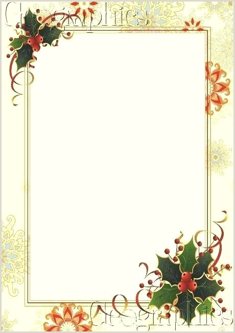 Christmas Stationery Border Free Templates Template