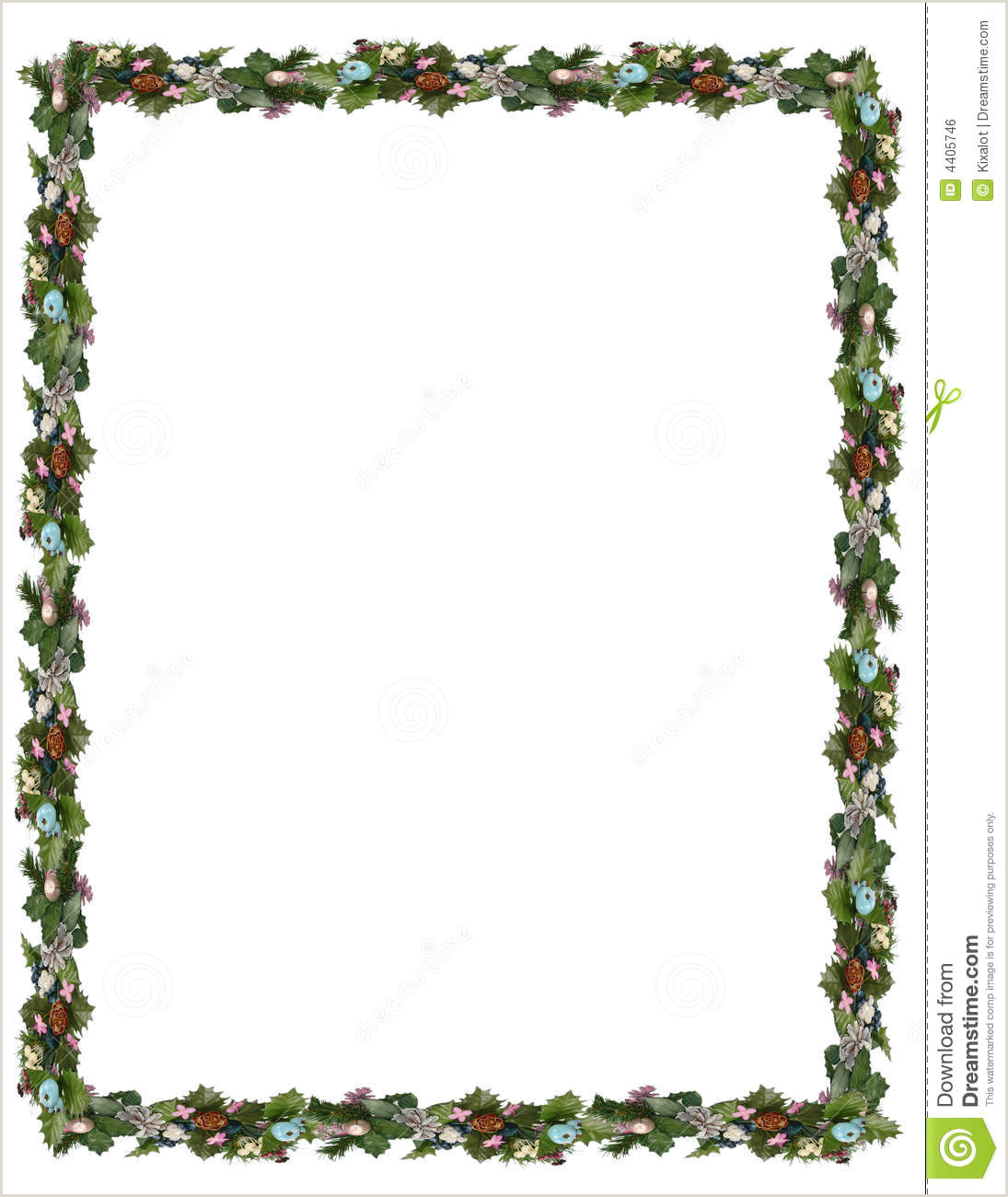 Christmas Borders Paper Frames for Word Documents Free Serpto