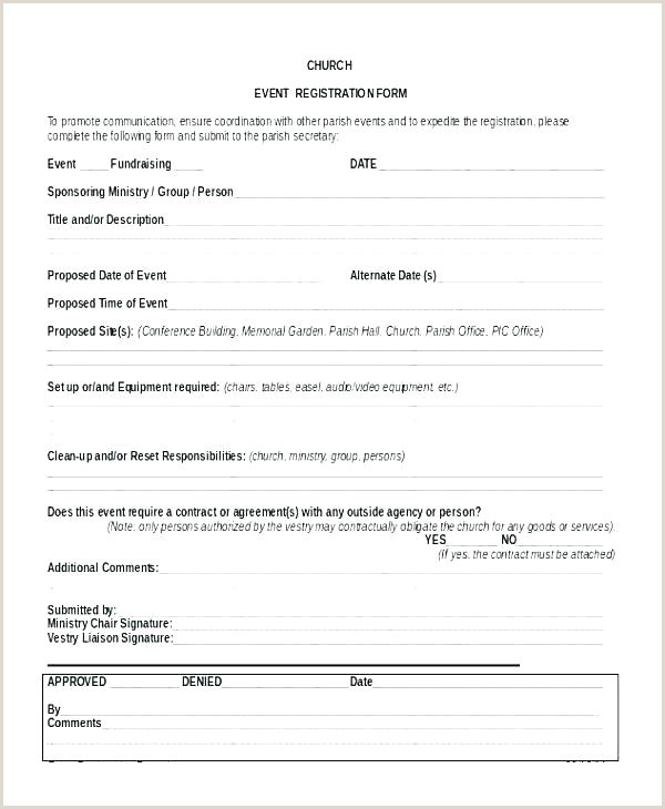 Church Camp Registration form Template Family Registration form Template Application form