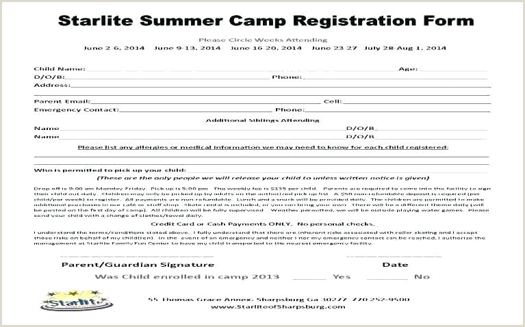 Church Camp Registration form Template Medical Registration form Template