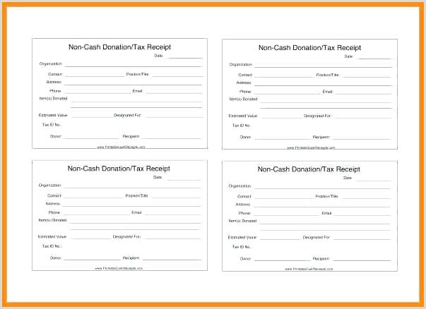 Church Donation Receipt Cash Doc Form Template Non Download