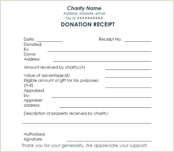 Church Donation Receipt Template Free Templates Formats In Kind