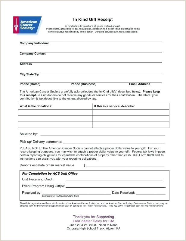 donation slip template
