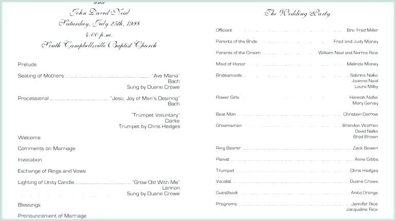 Wedding Anniversary Invitation Template Lovely Program