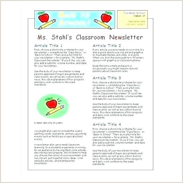 Newspaper Article Assignment Template Ms Word Newsletter