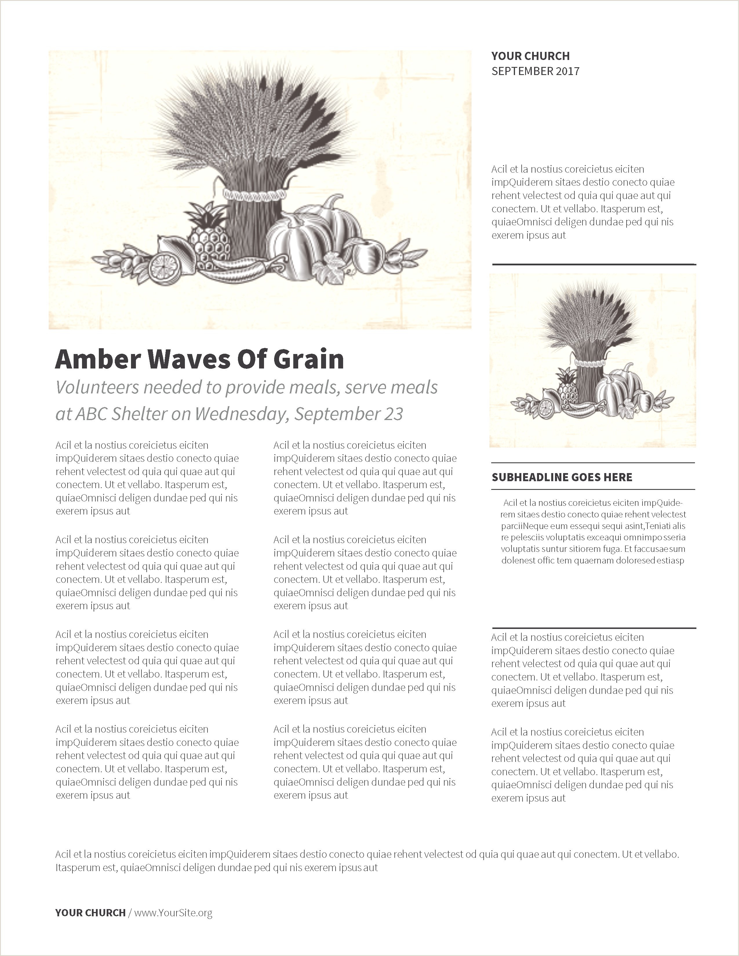 Church Newsletter Templates Powerpoint Church Backgrounds Nice Vintage Harvest