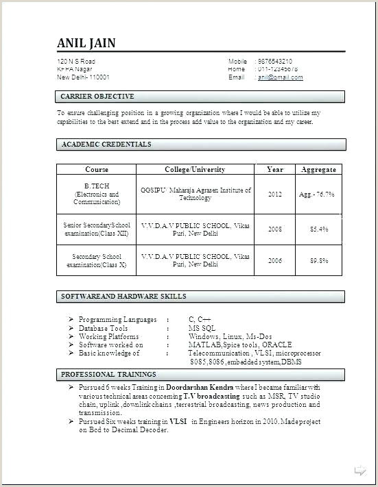 Civil Engineer Fresher Resume Format Doc India Civil Engineering Resume Formats – Emelcotest