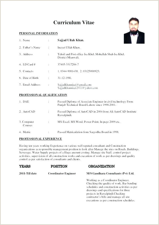 Civil Engineer Fresher Resume Format Doc India Sample Of A Resume Format – Dew Drops