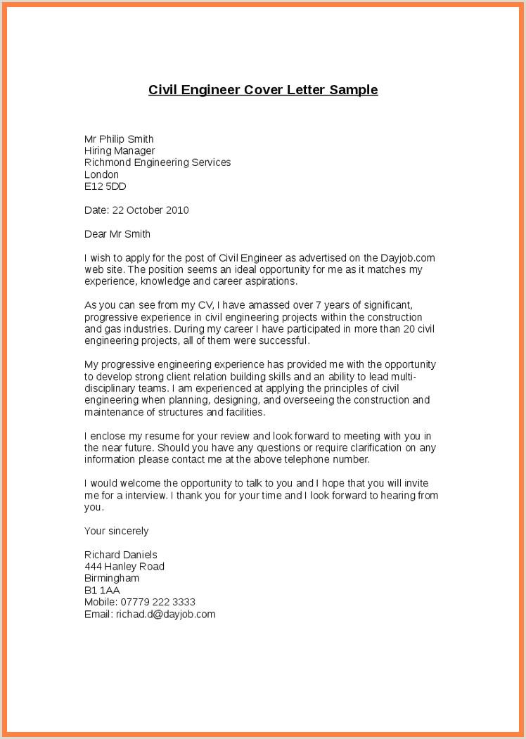 Civil Engineering Internship Resume Application Letter Civil Engineer Cover Internship Sample