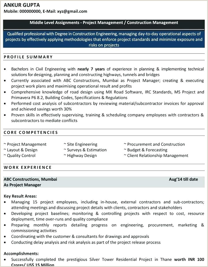 Civil Fresher Resume format Pdf Home Profile Template Blank Page Civil Engineering Resume