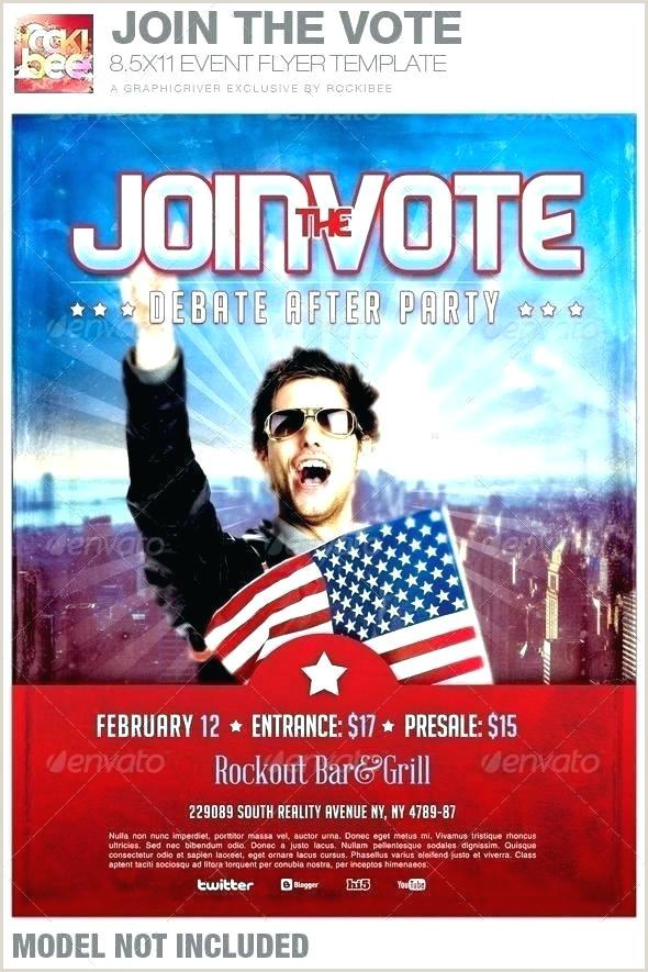 Political Ad Template Campaign Flyer Maker Design Newspaper