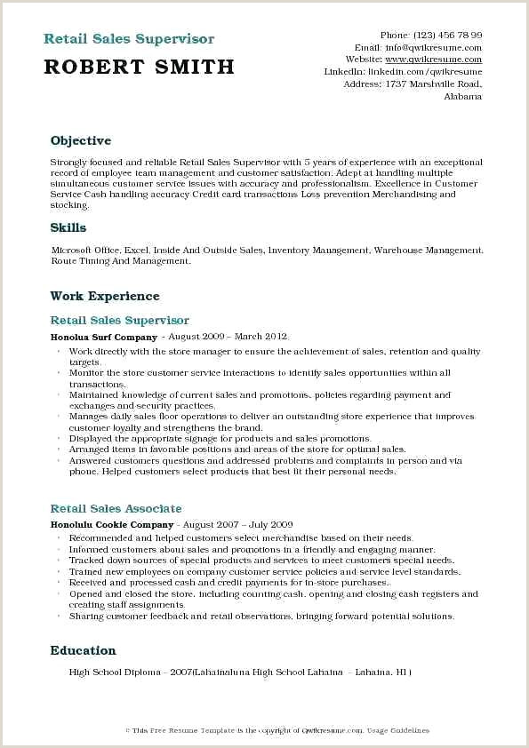 Cleaner Cv Template Supervisor Resume Template