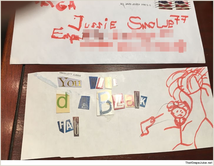 Closing A Letter In French Empire Star Jussie Smollett Tells Cops His attackers touted