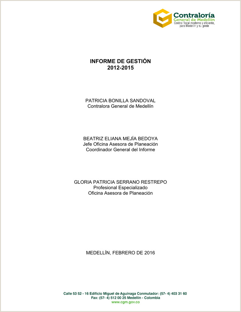 Informe de Gesti³n revisado 2012 2015 def