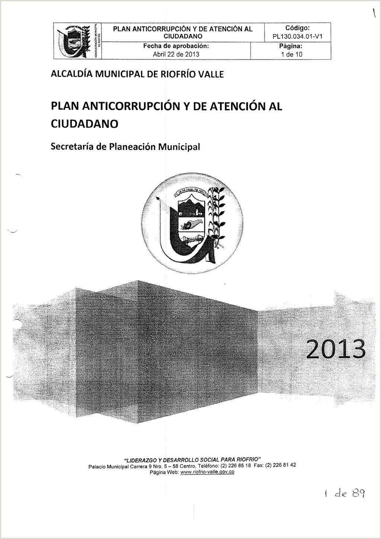 """PLAN ANTICORRUPCI""""N Y DE ATENCI""""N AL CIUDADANO PDF"""