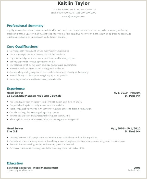 Cocktail Server Resume Line Server Sample Resume – Ruseeds