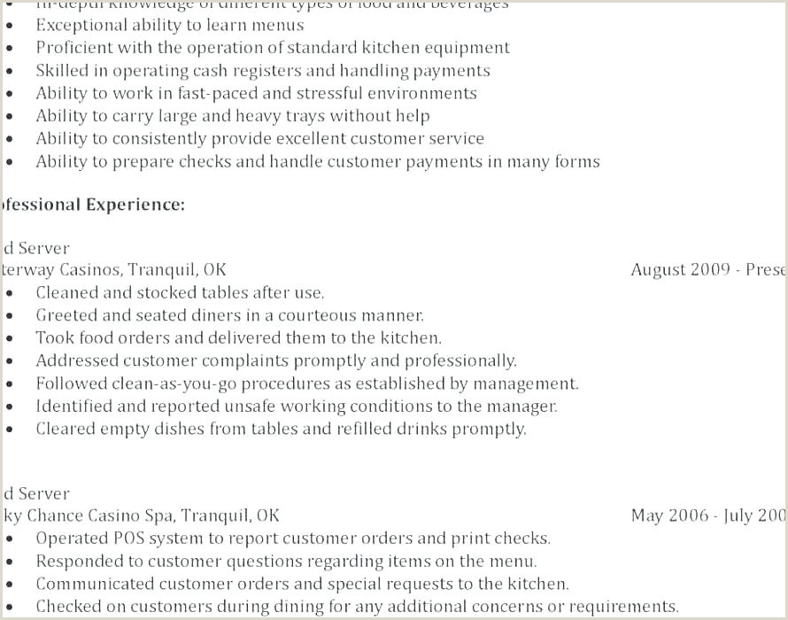 Cocktail Waitress Job Description Bartender Job Description for Resume Best Resume Waitress