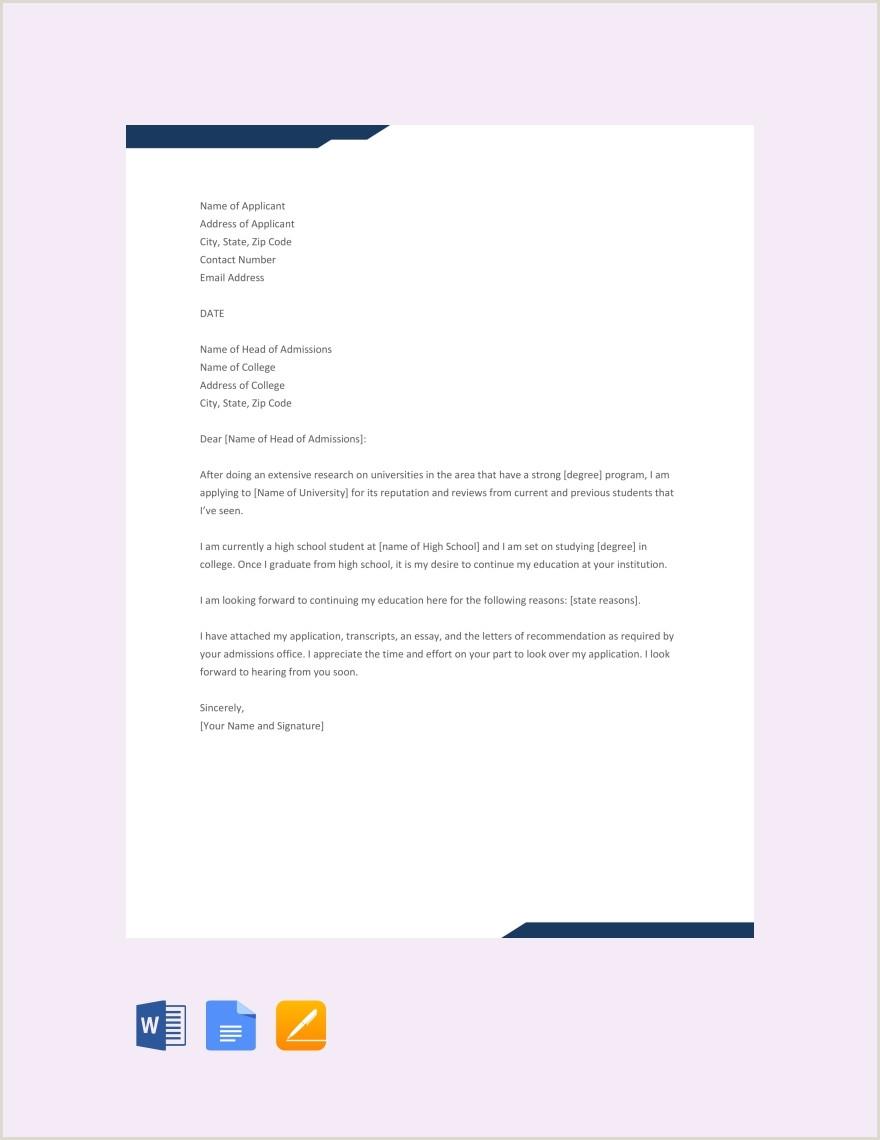 11 Sample College Application Letters PDF DOC