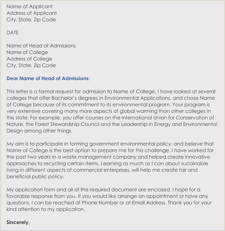 College Application Essay Header Writing A College Admission Application Letter In Corrent format