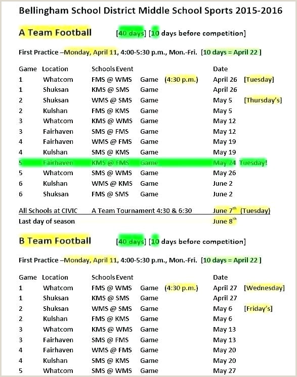 Snack Schedule Template For Sports Calendar Baseball Game Plan