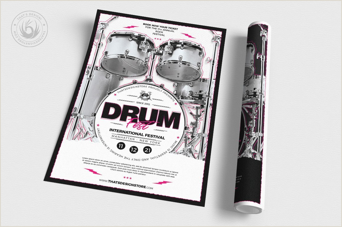 Coming soon Poster Template Drum Fest Flyer Template