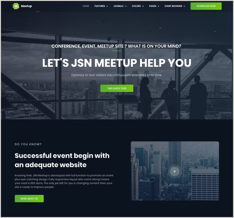 Coming soon Poster Template Jsn Meetup Professional event Booking Joomla Template