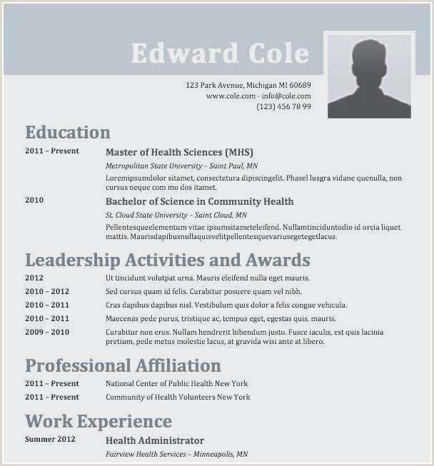 Beautiful Resume Examples with Volunteer Experience