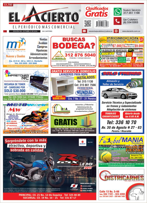 Pereira 709 21 de octubre 2016 by El Acierto issuu