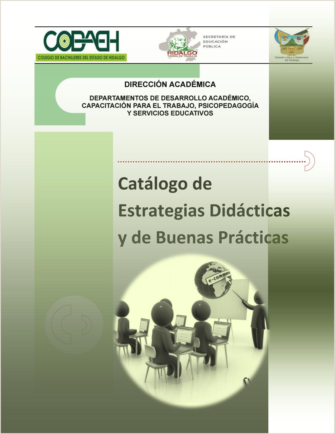 Catálogo de estrategias didácticas y de buenas prácticas by