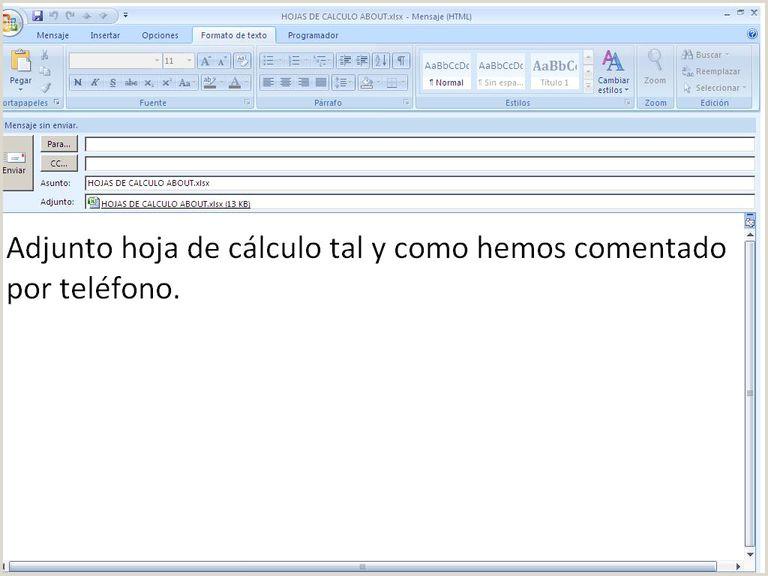 Como Hacer Una Hoja De Vida A Computador Envia Tus Hojas De Cálculo Excel Por Email