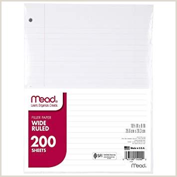 Mead papel de papel hojas sueltas ancho rayas 200 hojas