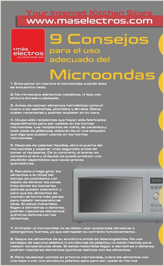 9 Consejos para el uso adecuado del Microondas