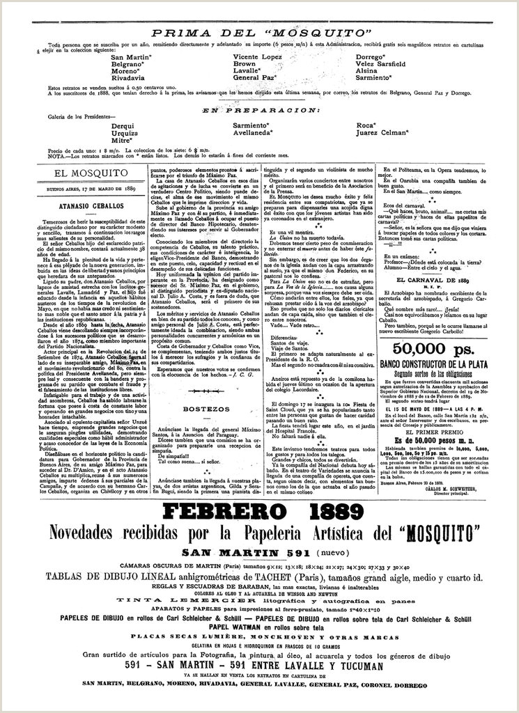 El Mosquito 17 de marzo de 1889 — Visor — Biblioteca