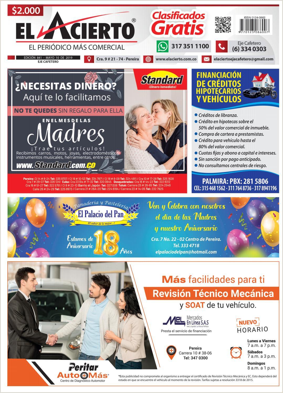 pereira 841 10 mayo by El Acierto issuu