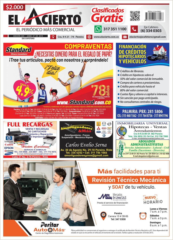 Como Hacer Una Hoja De Vida asesor Comercial Pereira 845 7 Junio by El Acierto issuu