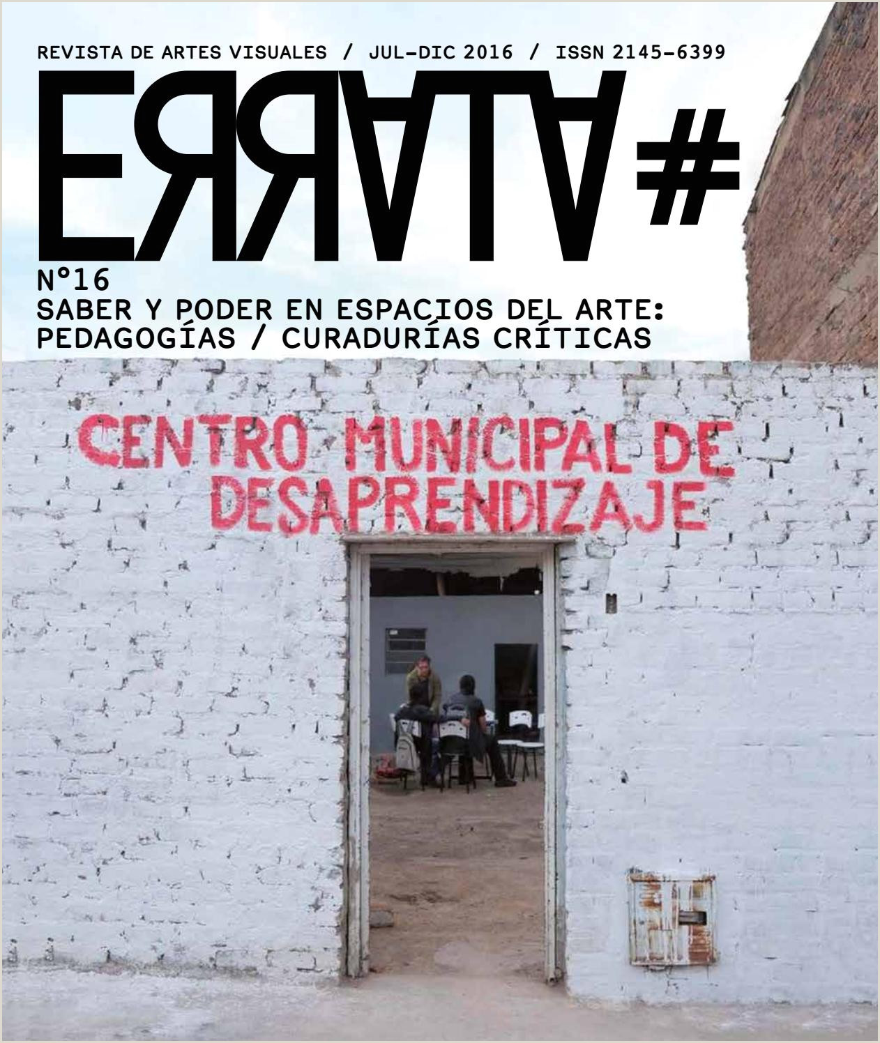 Revista Errata 16 SABER Y PODER EN ESPACIOS DEL ARTE