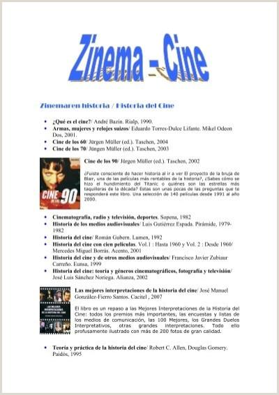 Como Hacer Una Hoja De Vida Audiovisual Zinemaren Historia Historia Del Cine Bibliotecas Pºblicas