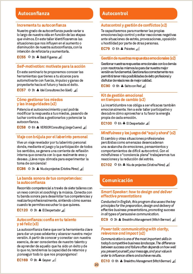 Barcelona Activa Treball Programa actividades 4o Trimestre