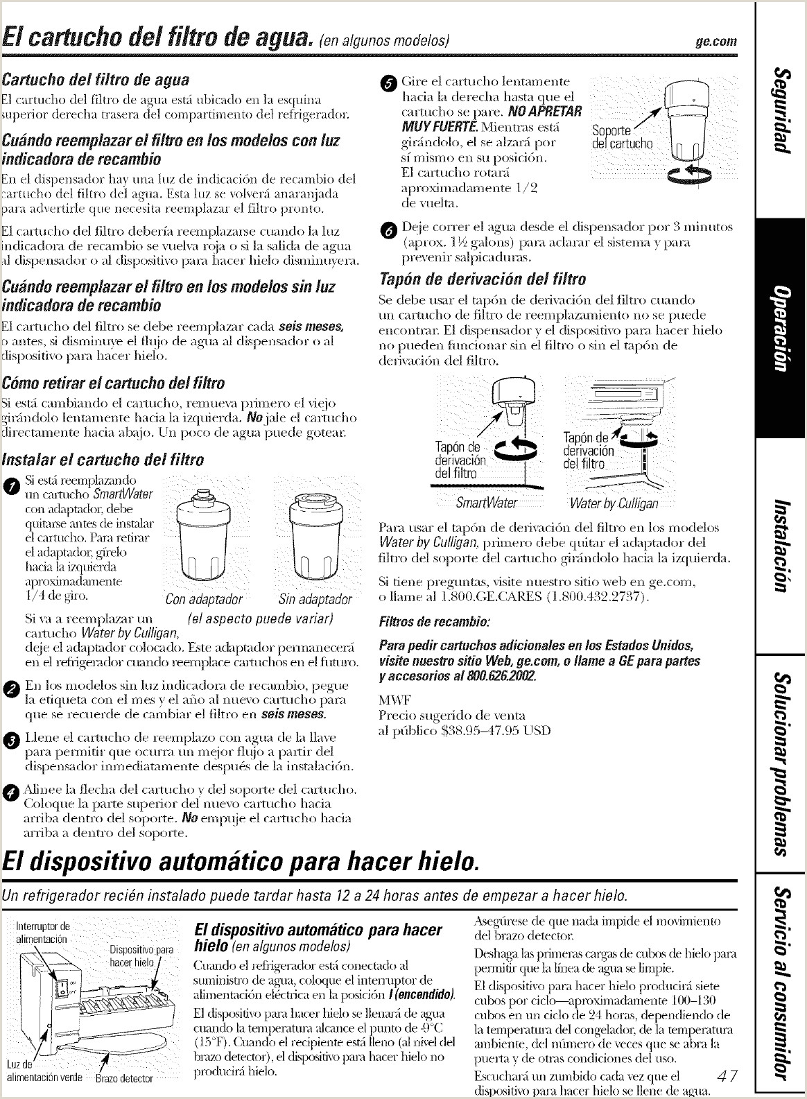 GE GSH22IFTBBB User Manual REFRIGERATOR T SERIES Manuals And