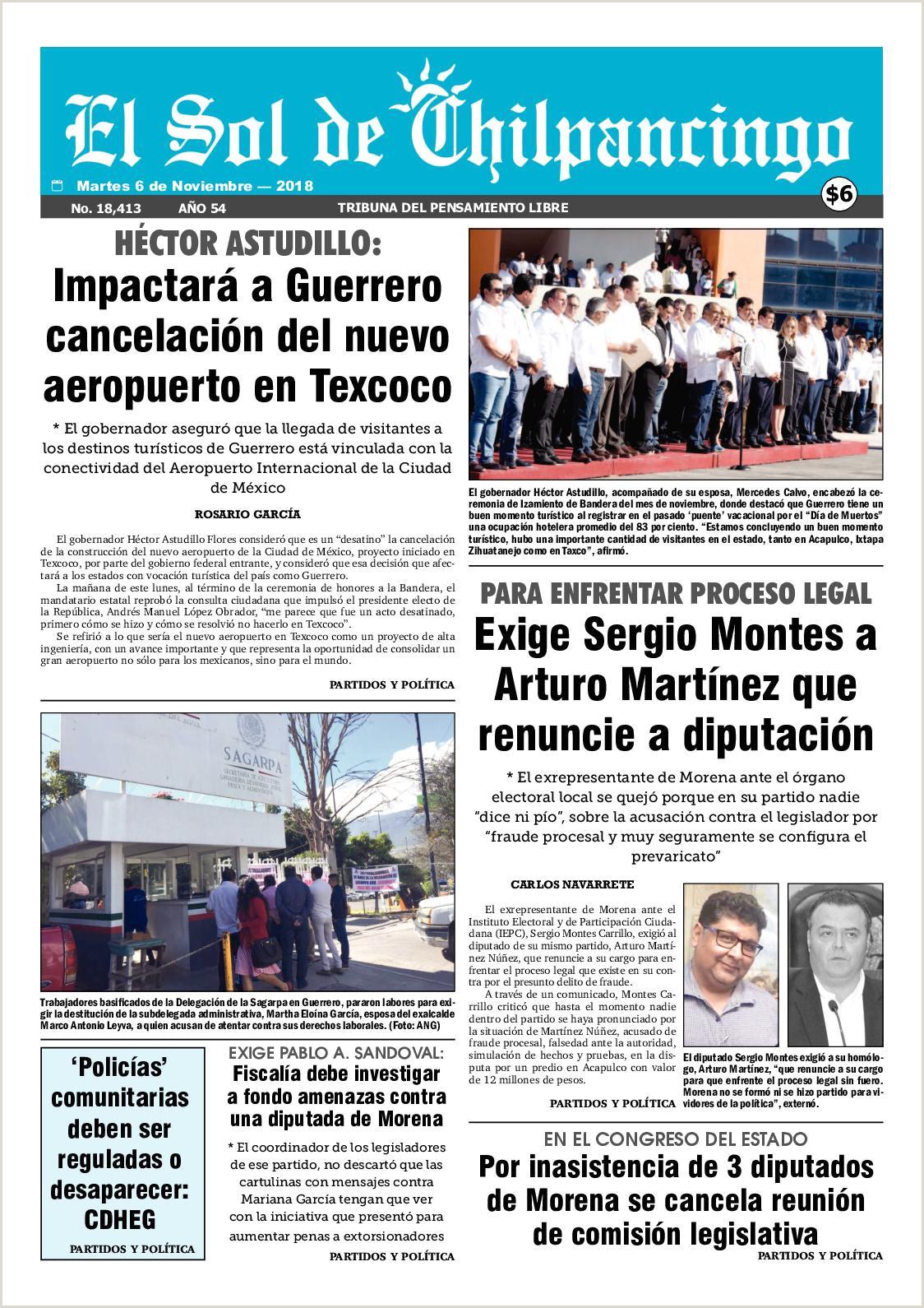 Calaméo El Sol De Chilpancingo 6 Noviembre 2018