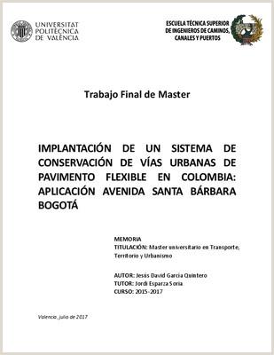 """Como Hacer Una Hoja De Vida Colombia Implantaci""""n De Un Sistema De Conservaci""""n De Vas Urbanas"""