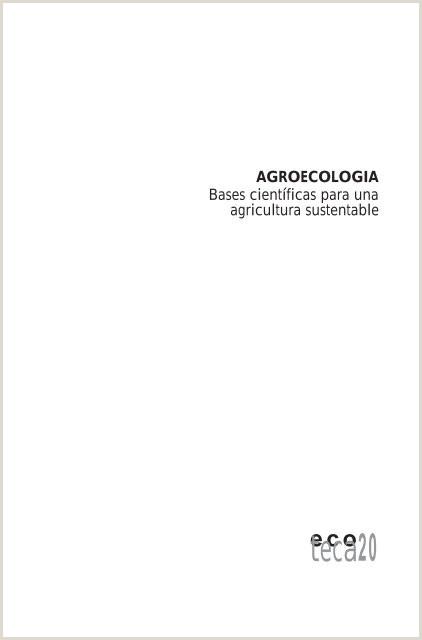 Como Hacer Una Hoja De Vida Colombia Libro Agroecologia