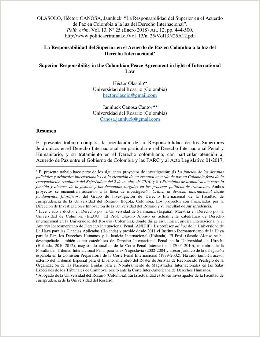 PDF La Responsabilidad del Superior en el Acuerdo de Paz en