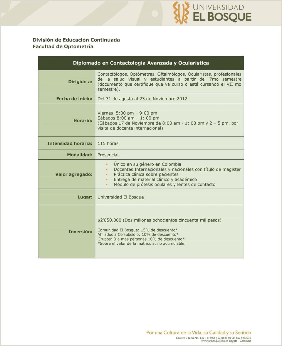 Diplomado en Contactologa Avanzada y Ocularstica PDF