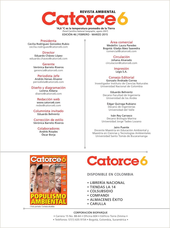 Edici³n 46 by Revista Ambiental Catorce6 issuu