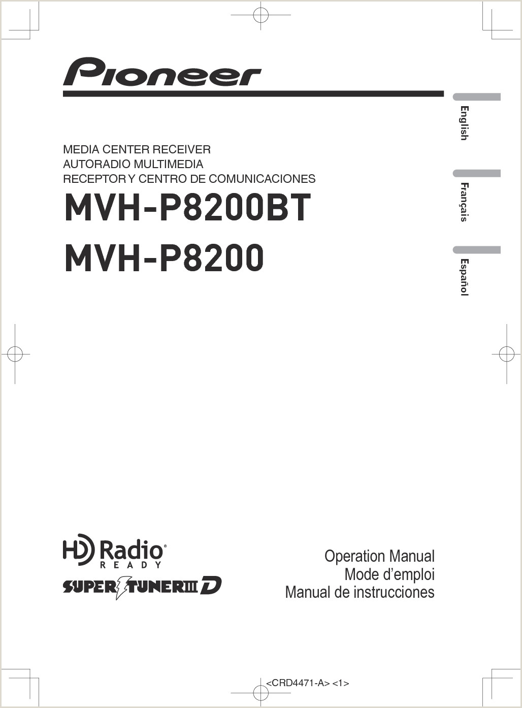 K029 Media Center Receiver User Manual Pioneer